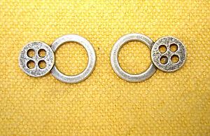 4-Paar-Dirndlhaken-Miederhaken-Dirndlzubehoer-2-4cm-altsilberfarben-schlicht-NEU