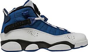 sports shoes 32106 88de8 Details about AIR JORDAN 6 RINGS BG 323419 400 TEAM ROYAL BLUE/BLACK-WHITE  - LEATHER/CANVAS