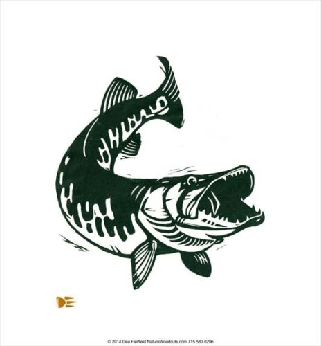 REEL IN MUSKY FISHING GICLEE UNFRAMED OPEN EDITION RARE!