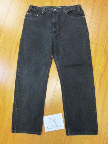 Regular Levis Fit Black 38x30 Zip10583 505 34x28 Meas Jeans Jean 5 droite jambe aSxpx