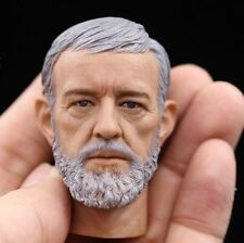 █ Custom Obi-Wan Kenobi 1/6 Head Sculpt for Hot Toys Star Wars Body Luke DX07 █