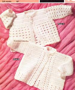 f80c474dfbbe 2 MATINEE JACKETS 3 to 6 months   DK or 8ply - COPY Baby crochet ...