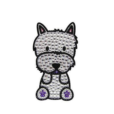 Westie Dog Rhinestone Glitter Jewel Phone Ipod Iphone Sticker Decal
