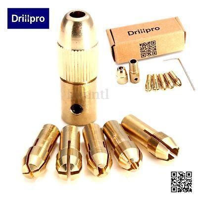 Set of 8Pcs 0.5-3mm Small Electric Drill Bit Collet Micro Mini Twist Drill Chuck