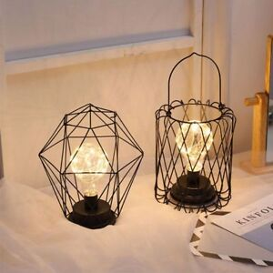 Miraculous Geometric Shaped Copper Wire Desk Night Light Bedroom Emitting Lamp Wiring Database Obenzyuccorg