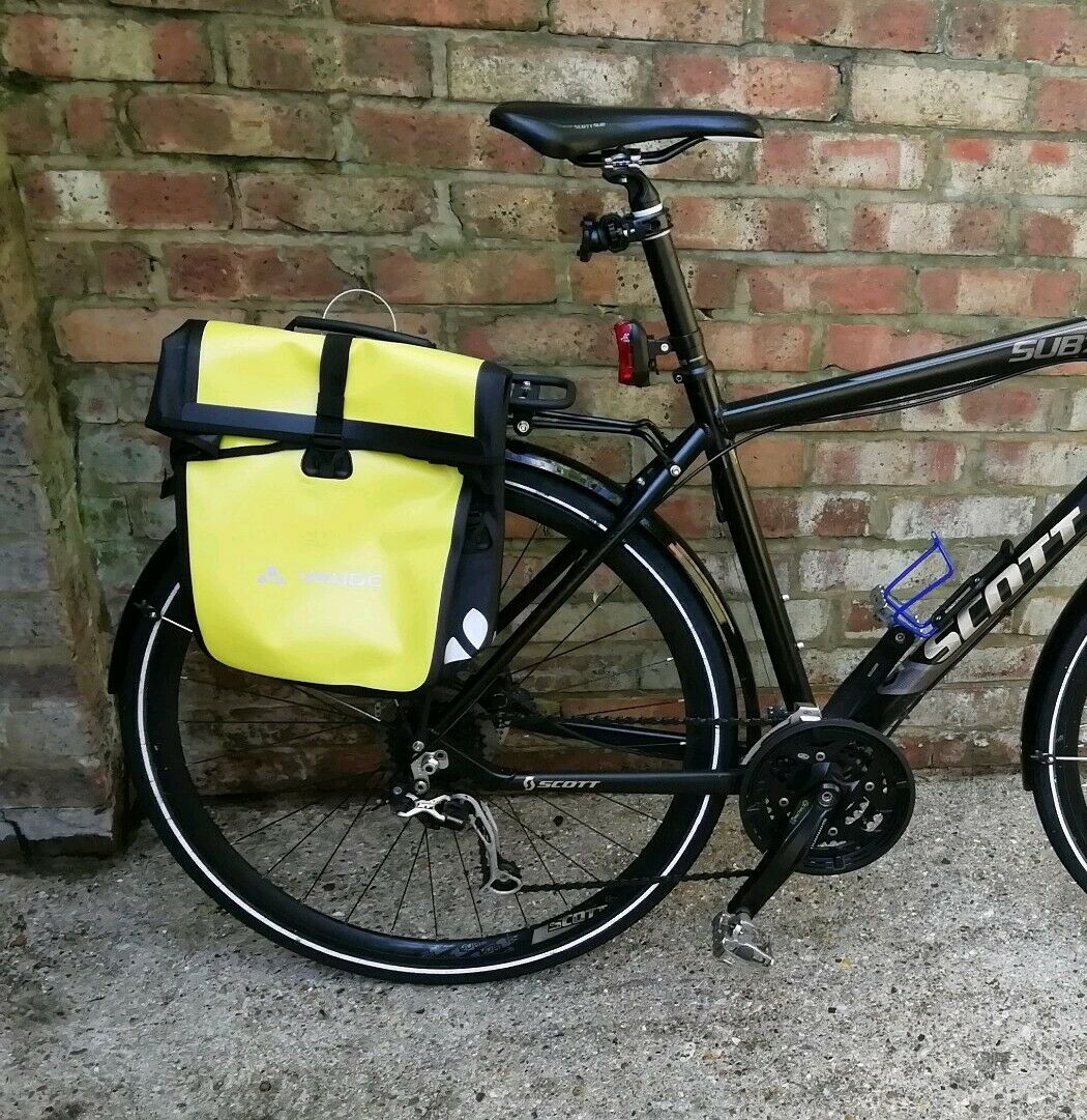 Vaude Frontal Solo Amarillo Canario Nuevo Alforja Bicicleta 14 Litros Impermeable QMR