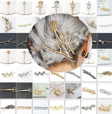 Wholesale Women's Metal Crystal Rhinestone Bobby Hair Accessory Barrette Hairpin
