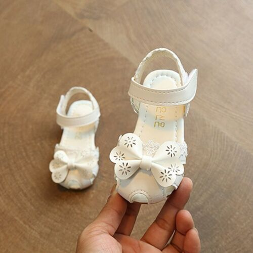 Infant Kids Baby Girls Flower Dance Performance Single Princess Casual Shoes