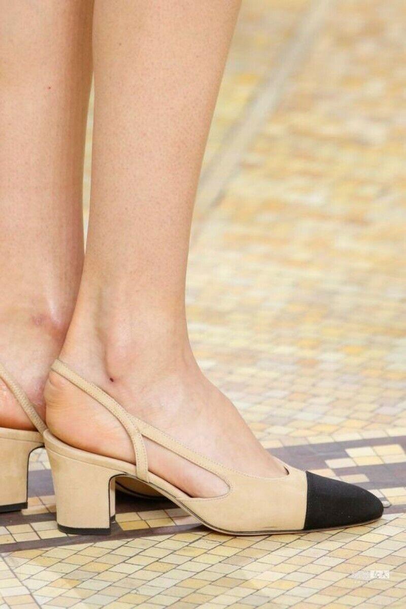 New Elegant Wouomo Leather Spring Spring Spring Block Heels Sandals Slingbacks Pumps scarpe 01e1d3