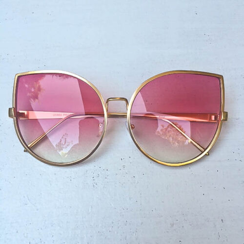 Retro Chic Oversized Gentle Giant Round Cat Eye BOHO Designer Sunglasses 4013 IT