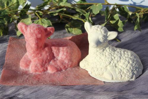 Handgemachte Latexgießform Gießform Betongießform für Beton Lamm Schaf Lämmchen