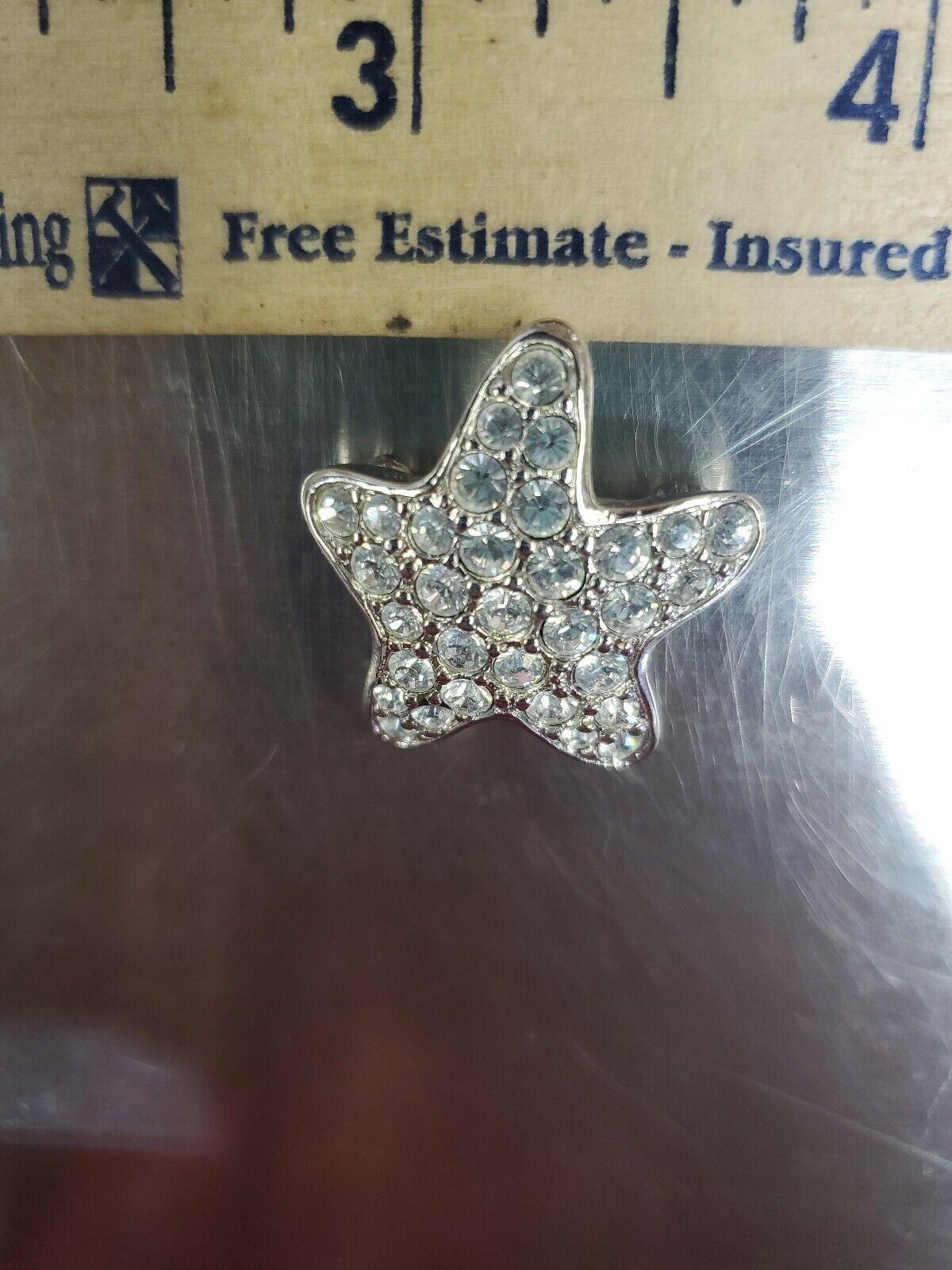 Swarovski crystal Brooch Silver Tone Star Super P… - image 5