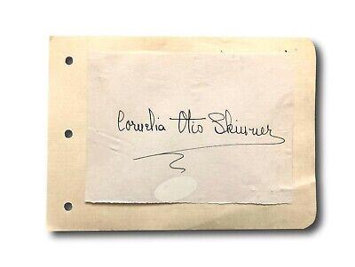 Movies Delicious Cornelia Otis Skinner Hand Signed Album Page Cut Jsa Coa Autograph Actress Sturdy Construction
