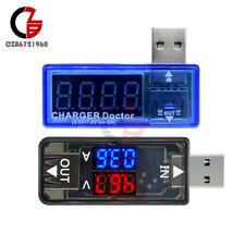 Digital Dual Led 5v Usb Current Voltage Meter Voltmeter Power Ammeter Detector