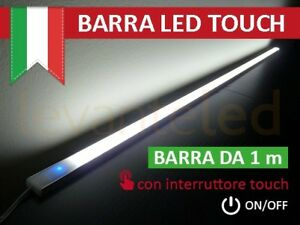 Details zu Barra Led Touch Alluminio Sotto Pensile Cucina ON/OFF chip  SAMSUNG Luce NATURALE
