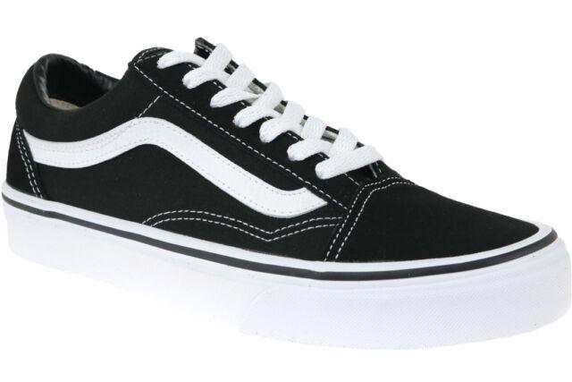 VANS Old Skool Black and White Size UK