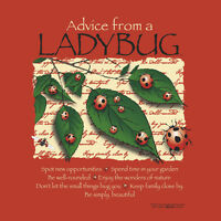 Ladybug T-shirt Organic Cotton Nature S M L Xl 2xl Advice Red Gildan