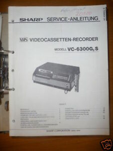 Tv, Video & Audio Modestil Service-manual Sharp Vc-6300 Video Recorder,original Um Der Bequemlichkeit Des Volkes Zu Entsprechen