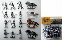 Napoleonic Waterloo French Soldiers & Cavalry Painted Figures Set 45