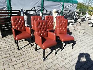 Armchair-Chesterfield-Sofa-Pads-Lehn-Chair-Design-Luxury-Dining-Room-Set-6x