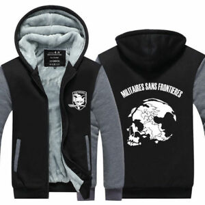 MGS 5 Metal Gear Solid V Fox Hound Logo Zip Up Super Warm Fleece ... 3c351e04d