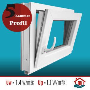 Fenster Kellerfenster 3 fach Verglasung BxH 100x60 90x70 90x60 80x60 Dreh Kipp