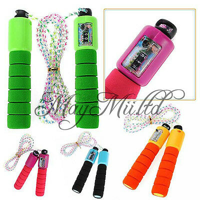 Hot Sales Adjustable Skipping Jump Rope Counter Exercise Workout Gym Fitness S