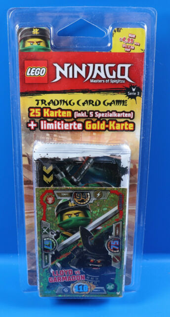 25 Karten Lego® Ninjago Serie 3 Trading Card Game Blister Goldkarte Le12