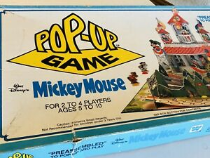 Vintage-1982-Disney-Mickey-Mouse-Popup-Game-Orig-Box-Instructions-Used-V-Good