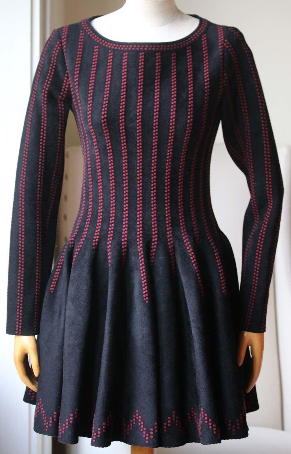 AZZEDINE ALAIA TEXTUrot STRETCH-KNIT DRESS FR 42 UK 14 | Optimaler Preis  | Billig ideal  | Zu einem erschwinglichen Preis  | Gute Qualität