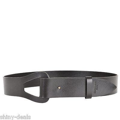 CORNELIANI New Man Black 100% Genuine LEATHER Wide Waist Belt One Size $178 NWT