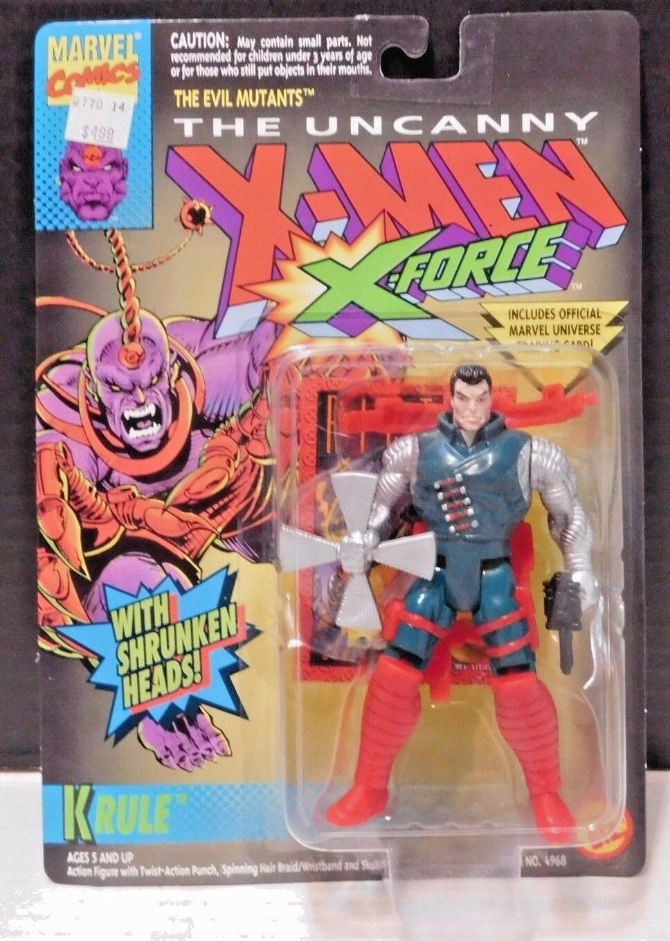 X-MEN ERROR Kane in Krule pkg Marvel Comics TOY BIZ Uncanny X-Force
