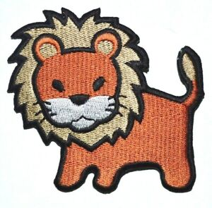 Lion Embroidered Iron On sew Patch Animal Kids Cartoon Jacket Jeans Dress Badge
