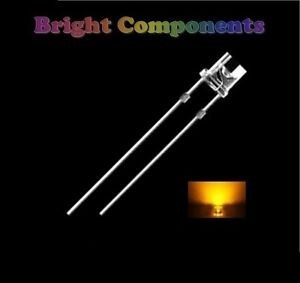 50-x-Yellow-LED-3mm-Flat-Top-Ultra-Bright-8000mcd-UK-1st-CLASS-POST