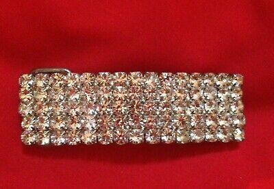 Cristallo Diamante Strass Fibbia Della Cintura 1.8 Cm Di Larghezza Usato-mostra Il Titolo Originale Il Prezzo Rimane Stabile