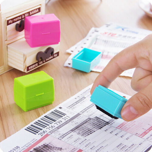 Roller stamp data security protection theft prevention id identity guard WQDE