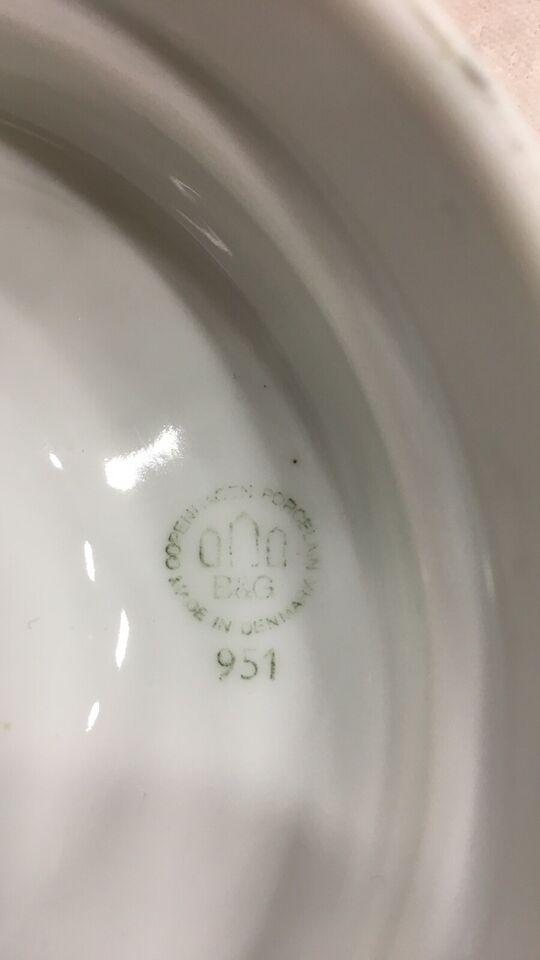 Porcelæn, 5 stk æggebæger, B&gG hvidpot