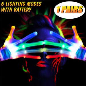 Electro-LED-Finger-Flashing-Gloves-Light-Up-Xmas-Dance-Rave-Party-Toys-Christmas