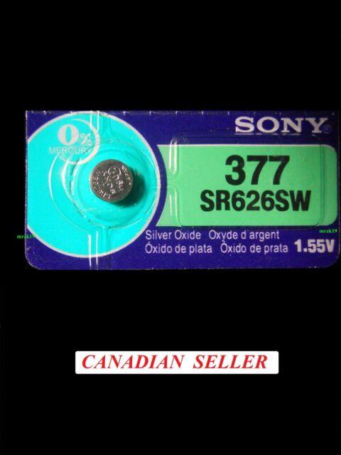 2024!!! Japan Original SONY 1 piece 377 SR626SW AG4 SR66 Silver Oxide Battery