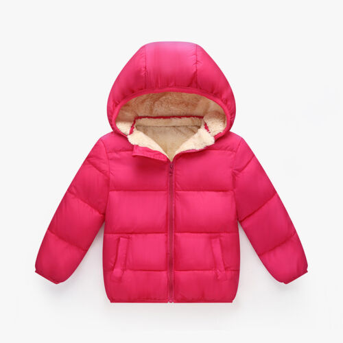 Toddler Baby Boys//Girl Winter Add Wool outerwear Hooded coats Kid Jacket Clothes