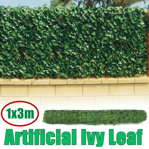 3M Artificial Ivy Leaf Hedge Garden Fence Roll Privacy Screen Balcony Wall Cover