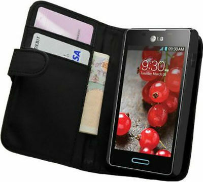 WALLET Leather Flip Case Cover Pouch for Mobile Phone LG Optimus L7 II 2 / P710