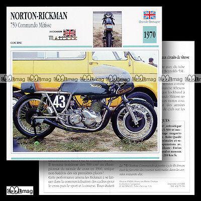 #071.06 NORTON-RICKMAN METISSE 750 COMMANDO 1970 Fiche Moto Motorcycle Card