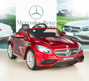 Mercedes Power Wheels >> Kid S 12v Electric Power Wheels Mercedes Benz S63 Red Radio Mp3 Rc Ride On Car