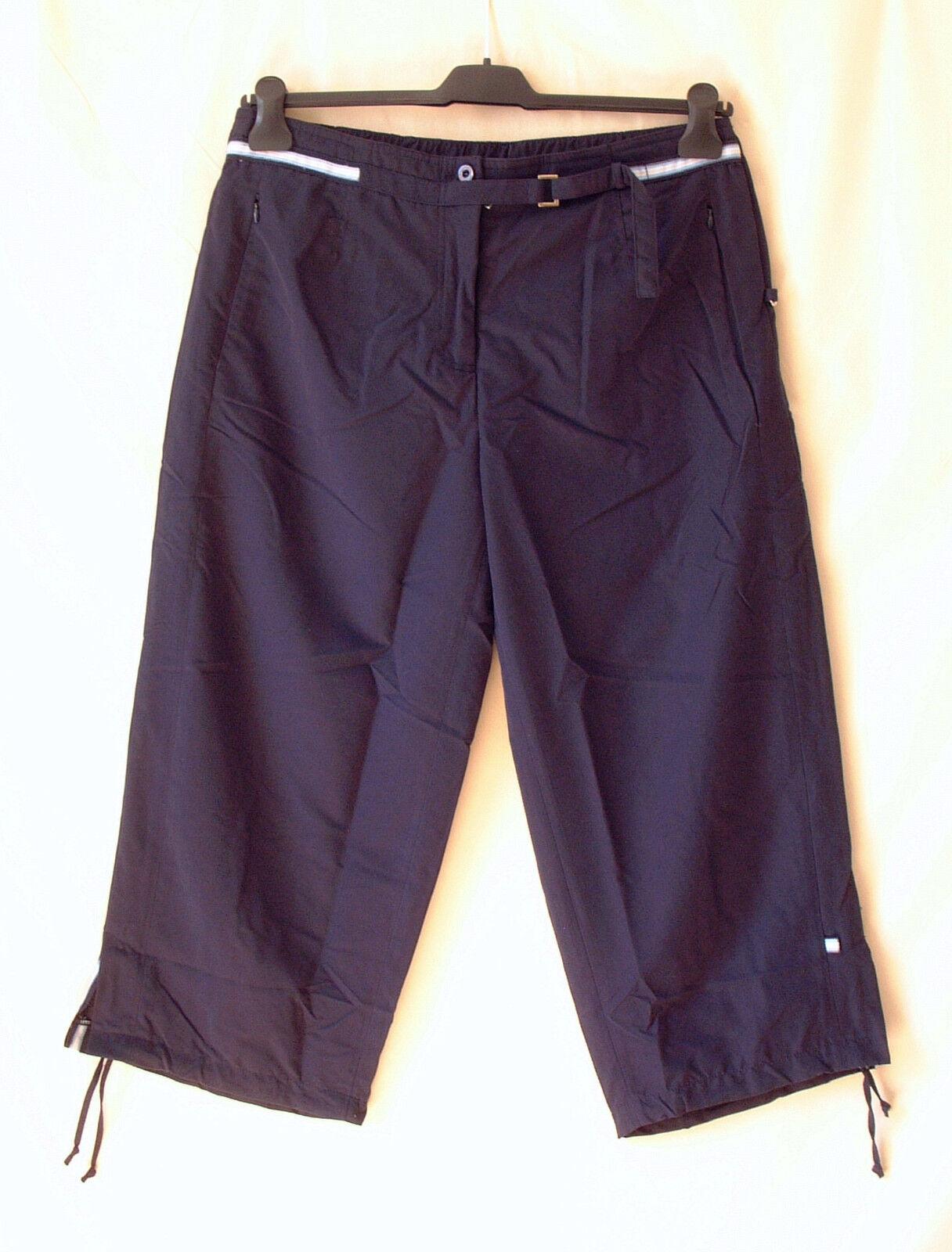 Hajo Trousers 3 4 Length Dark Blau Cuffed in the Back Stretchy New daMänner Größe
