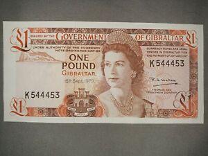 Gibraltar 1 Pound Banknote,1979 Choice Uncirculated ! Crisp! Gradable!