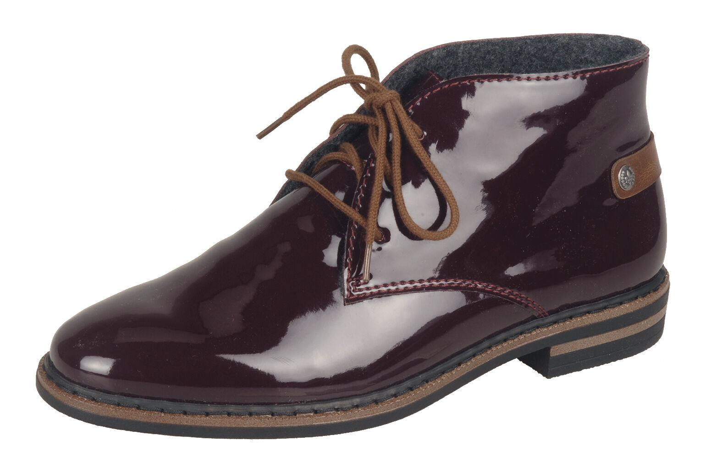 Rieker Damen Stiefel 50630 Stiefelette Halbschuhe, Sneaker bordo NEU