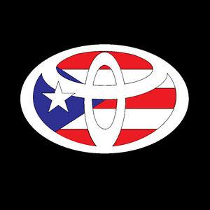La Foto Se Está Cargando Puerto Rico Coche Decal Sticker Toyota Con Puerto