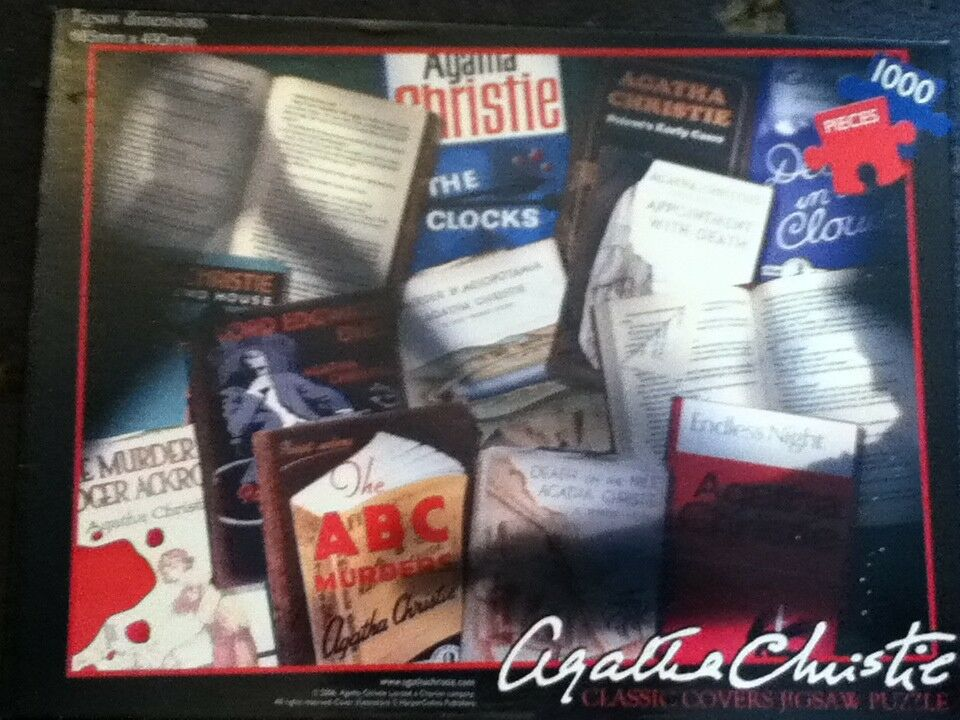 Susan Prescot Games, Agatha Christie Vintage Crime Front Covers 1000 Pieces