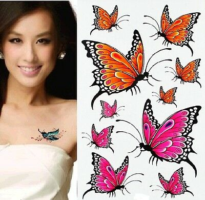 FD967 Removable Waterproof Temporary Tattoo Body Stickers ~Cute Butterfly~ 1pc